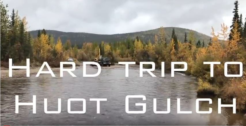 Our way to prospect the placer gold on Hot gulch