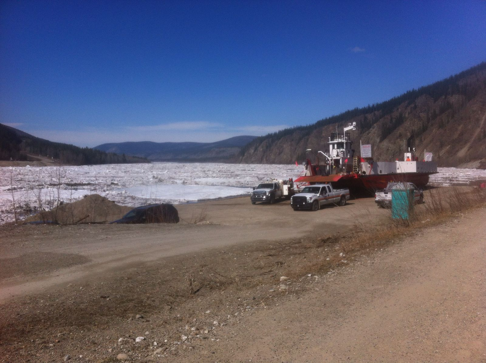 Yukon River: the ice is finally breaking. Miners get ready, season 2018 is starting soon!!!
