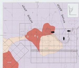2010 Karte Goldvorkommen am Huot Gulch