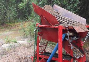 Rote Gold Waschanlage am Clear Creek