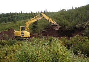 yellow crawler excavators Komatsu PC138