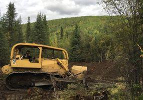 gold dozer testpit at bruin Creek