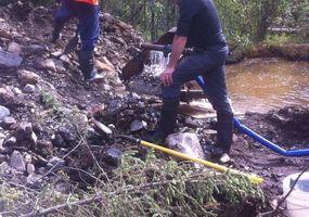 gold testing at Bruin Creek