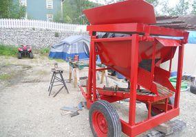Test wahsplant washing 3 cubic meter per hour