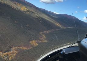 the view from helicopter to Pat Murphy Creek